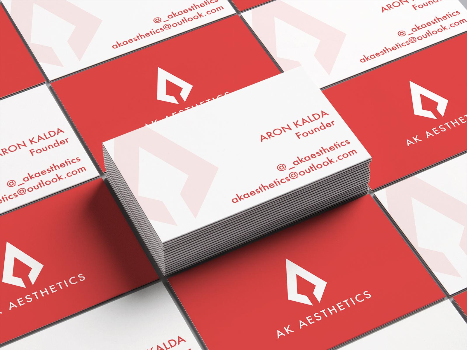 Ak aesthetics   business cards