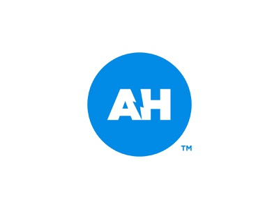 Alex Horncliff - Logomark Design energy logotype electric symbol lightning bolts bolt mark a h initials blue and white logovolt negative-space volt negative space thunder ah monogram logo lounge logolounge 11