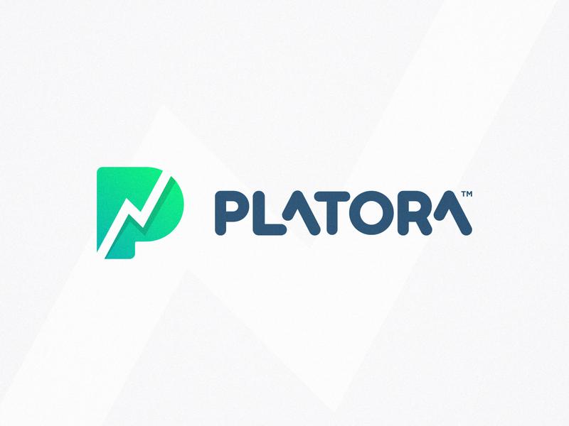 Platora - Logo Design typogaphy type art letter mark monogram round corners negative space graph logotype graphic  design chart logotype finance icons p logo gradient color green branding