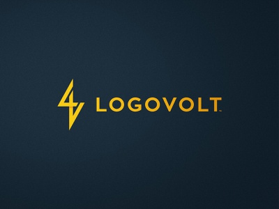 Logovolt - Logo Design geometric font pointy symbol zap icon design yellow logo thunder logomark volt mark l v letters lv monogram logovolt lightning bolt energy logotype electric blue
