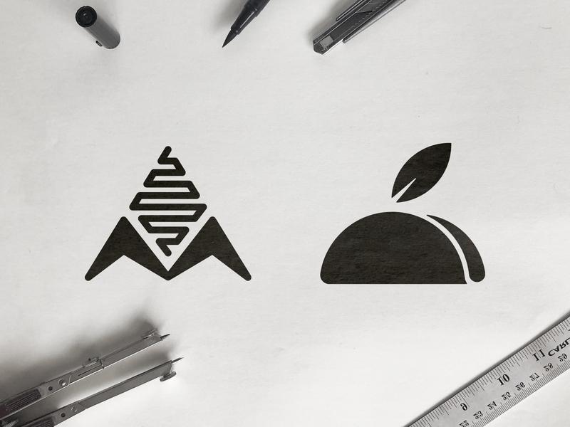 Mihlo - Logo Concepts drawing ink mark making healthy food m letter logo 2d white and black process flow sketch leaf logo corn logomark tortilla design taco symbol