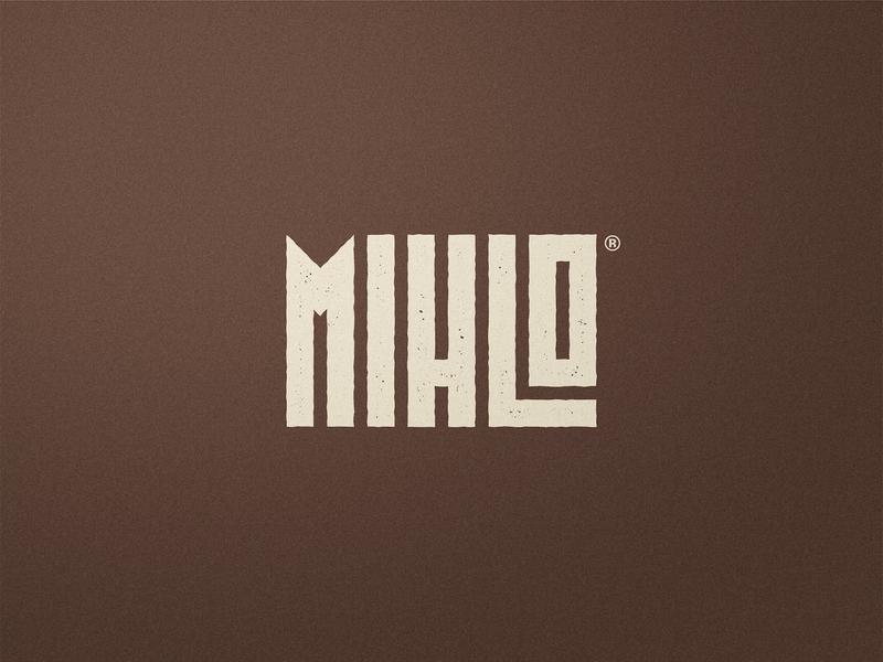 Mihlo - Logotype Design foodie type daily restaurant branding food brand typemark wordmark flat logo identity designer rugged texture organic food logotype design