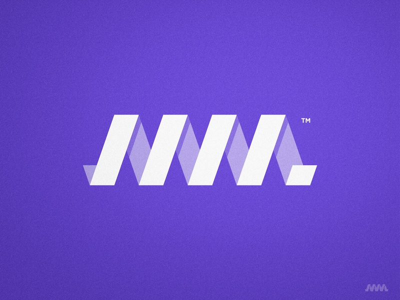 Making Momentum - Logo Design cleverlogo symbol icon letterform lettermark logotype smart mark identity designer white and purple m letter 3d logo design spiral mm monogram