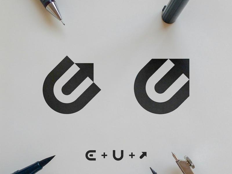 Ecom Uprise - Logo Concepts sketch ecommerce design e-commerce app negative space mark growth symbol upward forward black  white eu monogram u logomark arrow logo e letter