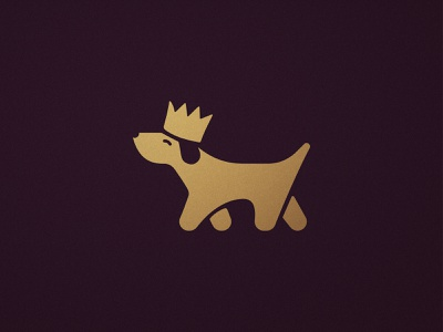 Crown A Dog - Logomark Design petshop dogs animals illustrated gold icon golden symbol happy brand king logomark animal logos puppy pet business crown logo dog illustration