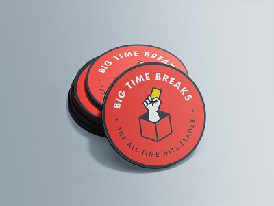 Big Time Breaks - Business Cards futura bold illustration art logotype designer badgedesign break brand identity branding graphic round icons circular sports mascot box art business card design hand logo