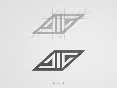Adaptive Immersion Technologies - Logo Grid sharp type wordmark series symmetry typedesign logotype design typography art i logo a letter grid layout ambigram lettering artist