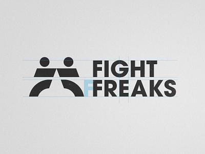 Fight Freaks - Logotype Grid smart mark kickboxing taekwondo grid layout flat logo design logotype designer logotypedesign martial arts f letter mma fight ff