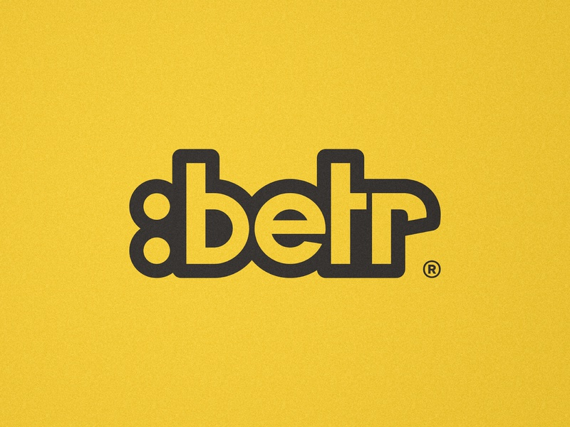 Betr - Logotype Design designer portfolio branding concept brand identity wordmark logo word mark custom lettering emoji custom type customtype logotype design logotypedesign better