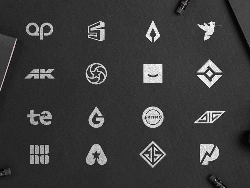Logo Selection 2 logoset symbolset logosketch monograms mark making logodesigns flat designs logo designers black and white logos 2d logofolio 2019 trend