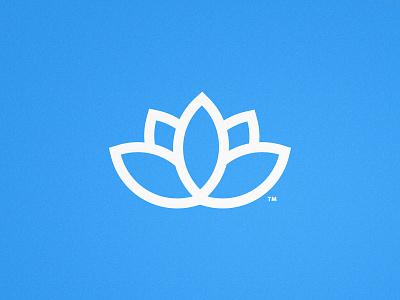 The Dahlia Den - Logomark Design flatdesign bloom plant illustration trademark mark symbol minimalist design line icon lilypad blue logo lotus dahlia lotus flower