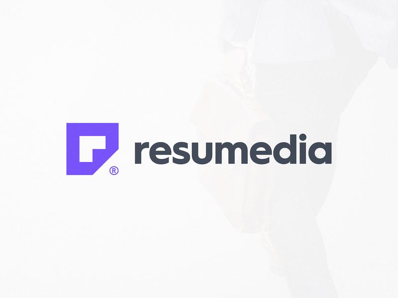 Resumedia - Logo Design smartlogo mark symbol icon logotype designer monogram design lettermark logotypedesign negative-space negativespace folded paper resume cv purple logo r letter