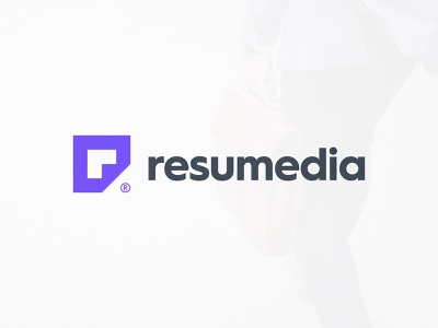 Resumedia - Logo Design smartlogo mark symbol icon logotype designer monogram design lettermark logotypedesign negative-space negativespace folded paper resume cv purple logo r letter