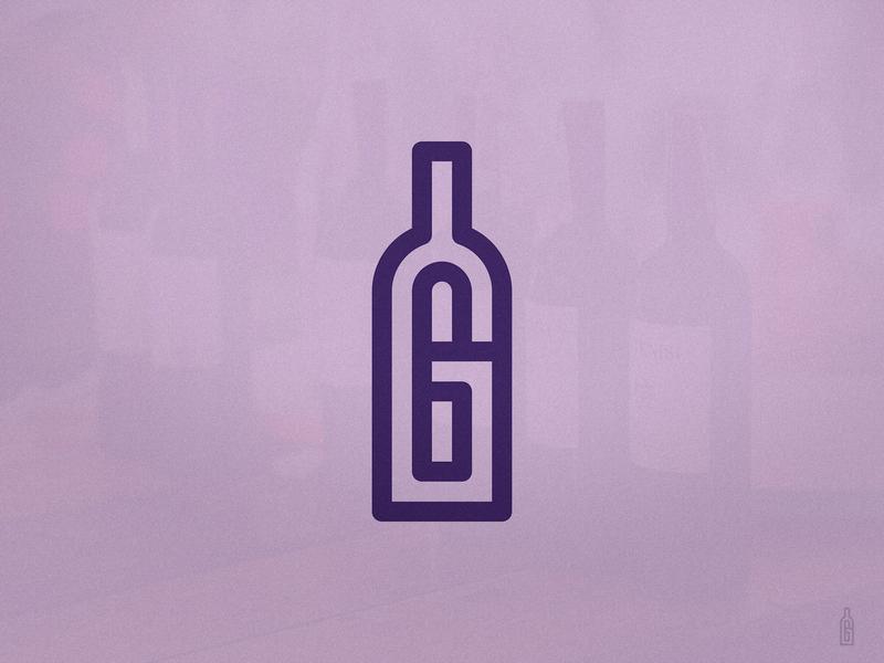 G Bottle Monogram logomark flatdesign minimalist design for sale unused buy olive oil beer branding wine bottle smartlogo clever logo double meaning cleverlogo g letter