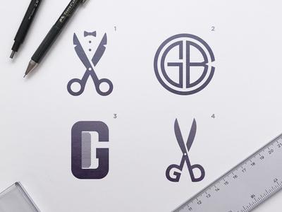 Gents Barber Club - Logo Concepts