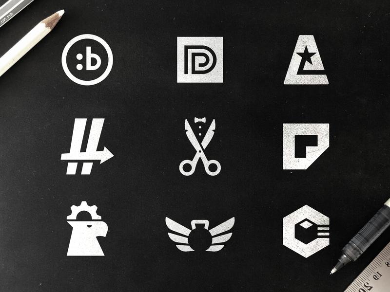 Logo Selection 3 symbols monograms mark making logo maker logo set logos bible software logofolio logodesigner illustration brand logodesigns flatdesign blackandwhite 2019 design trend