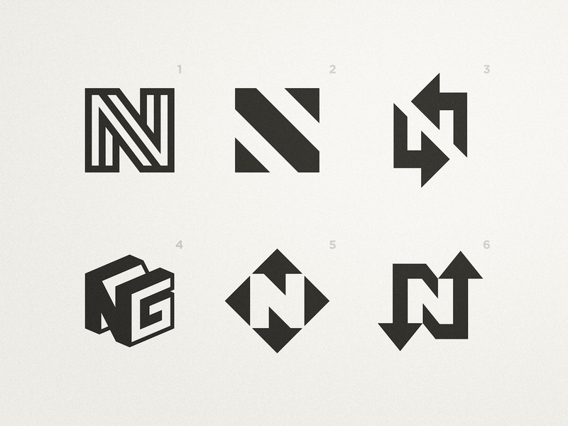 Neat Group - Logo Concepts cleverlogo black and white logotype designer clever illustration smart visual symbol icon mark 3d logos arrow logo negative-space negativespace lettermark lettermarkexploration n letter