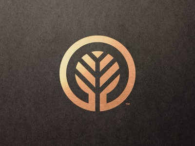 Elegacy Events - Logomark Design minimal negative-space negativespace logolounge branding and identity luxury brand e letter logomark mark icon symbol trademark tree logo gold foil