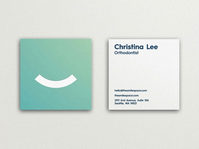 The Smile Space - Business Card Design