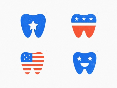 Hollywood Smile - Logo Concepts dentist teeth branding usa flag stars and stripes shooting star identity designer smart mark united states of america logo design concept for sale unused buy negative space