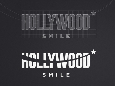 Hollywood Smile - Logotype Grid