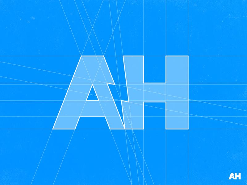 Alex Horncliff - Logo Grid negativespace thunder thunderbolt voltage volt typogaphy negative space logo lettermark identity designer branding brand