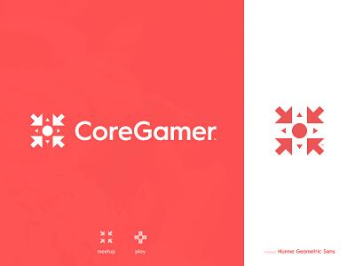 Core Gamer - Logotype Design esports arrow gaming website gamepad mark symbol icon logotype designer identity negative space logo typography branding brand