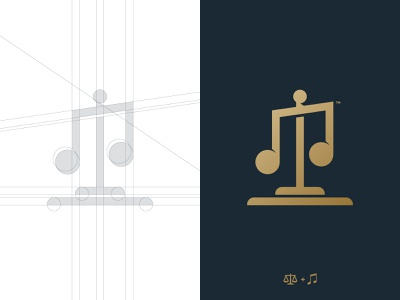 Apollo's Counsel - Logo Grid law firm scale dual meaning logo mark music note balance trademark identity designer grid design branding brand