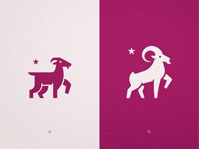 Avanti - Logo Concepts 🐐 ibex buck antler ram animal mascot stars star goats goat logo identity designer branding brand