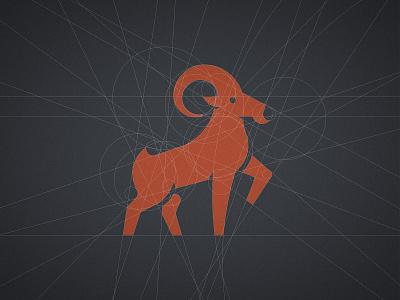 Avanti - Logo Grid 🐐 designer portfolio logomark logolearn ram ibex buck mascot goat logo antler brand identity branding grid design