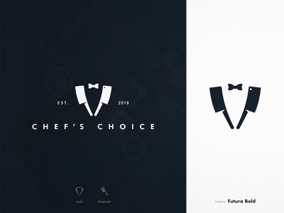 Chef's Choice - Brand Identity chef typography style guide mark logotype designer logomark logo identity cleaver suits branding brand