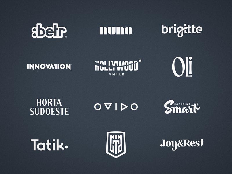 Wordmark Collection identity designer flat designs logos logofolio behance project wordmark logo typography logotype design branding brand