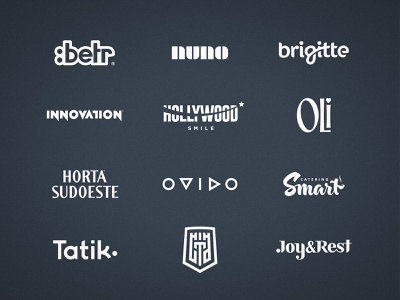 Wordmark Collection identity designer flat designs logos logofolio behance project wordmark logo typography logotype design branding brand