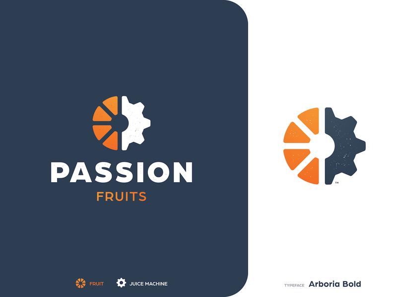 Passion Fruits - Brand Identity styleguide logotypedesign tangerine smart mark logotype designer logo identity design orange juice drop cog branding brand
