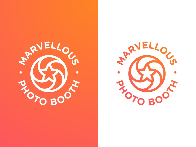 Marvellous Photo Booth - Logotype Design badge designer portfolio photography smart mark star circular logo logotype design identity camera lens branding brand aperture