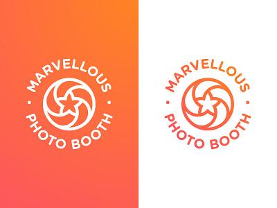 Marvellous Photo Booth - Logotype Design badge designer portfolio photography smart mark star circular logo logotype design identity camera lens branding brand aperture