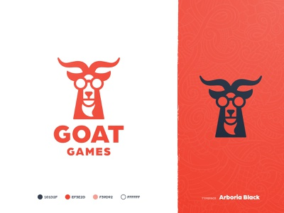 Goat Games - Brand Identity 🐐 buck antler glasses style guide mark logotype designer logomark identity ram goat logo branding brand