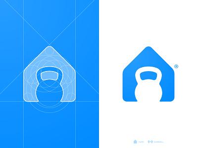 London Fitness - Logo Grid design logo lettermark typography smart mark identity designer brand logotype designer negative space logomark grid design personal trainer house home designer portfolio branding brand identity gym app kettle bell kettlebell
