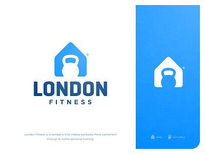 London Fitness - Brand Identity home mark design logotype designer personal training negative space branding brand identity house kettlebell fitness workout app gym logo