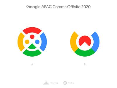 Google APAC Comms Offsite 2020 - Logo Concepts olympic games tokyo logotype designer mountain community sun mount fuji negative space logo logomark branding brand identity google