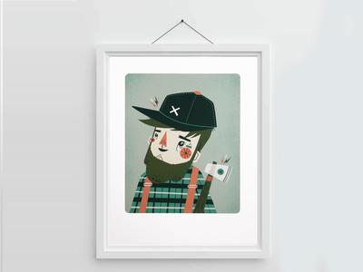 Lumberjack Giclee Print