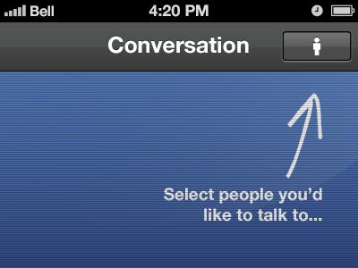Led conversation ui