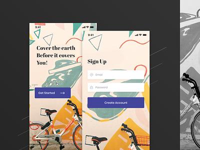 Sing Up Screen design app ui first shot login sing up