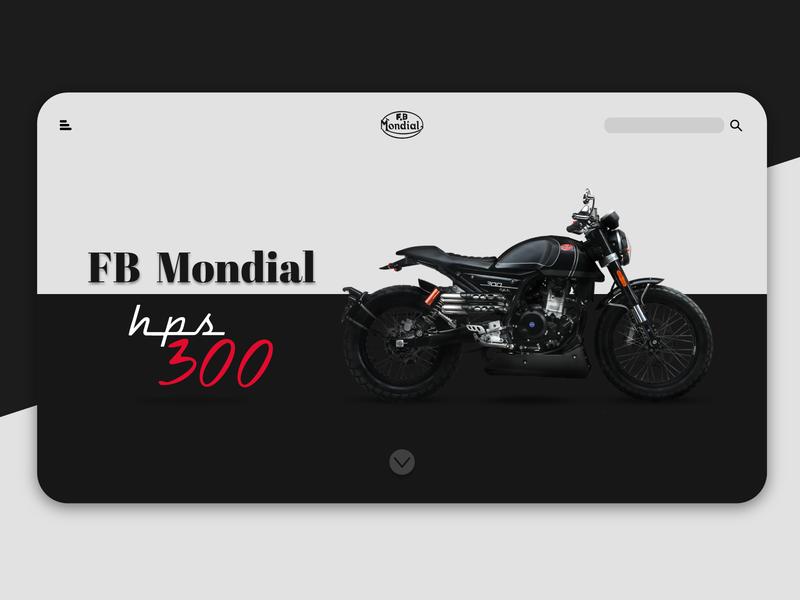 FB Mondial Web UI trending ui new superbike motorbike webdesign website uiux web