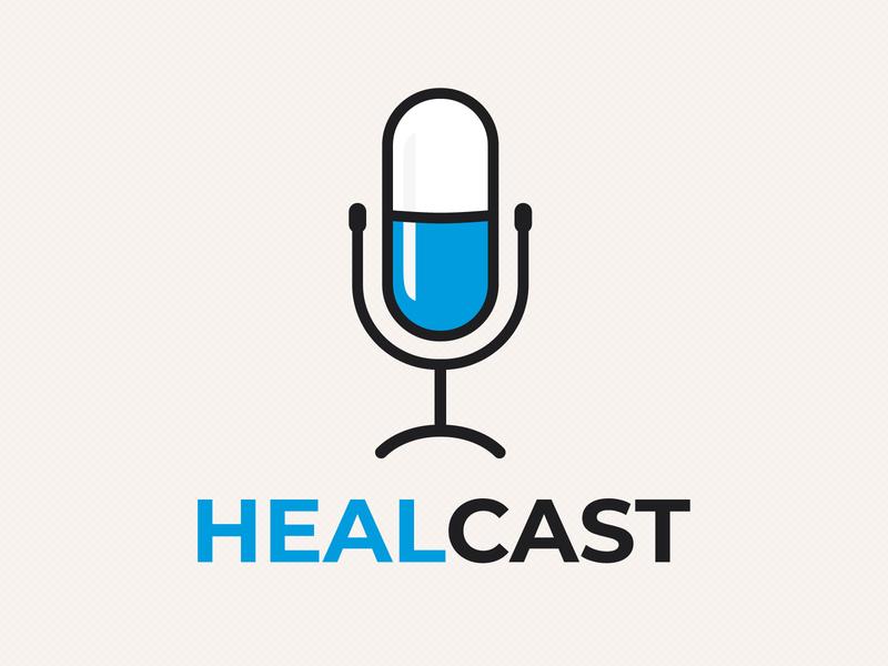 Health Podcast Logo covid medicine program health logo science media micrphone pill podcast doctor broadcast