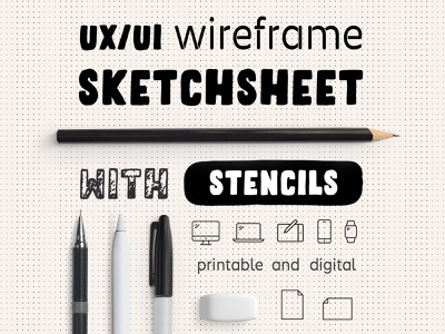 UX Workflow - Wireframe Sketchsheet with Stencils sitemap prototype ideation sketch wireframe ui ux app