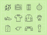 Soccer Planet Icons