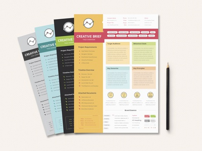 UX Workflow - Creative Brief design experience target document overview audience emoji briefing creative agency report timeline scenario brand user sticker ux