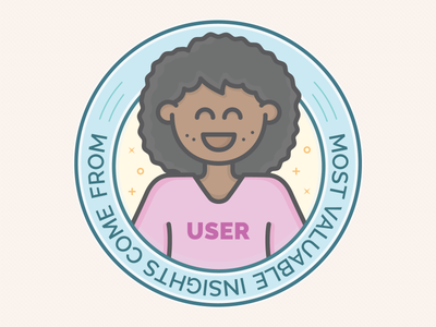 UX Workflow - User Insights illustration insight users persona experience vector badge workflow ux
