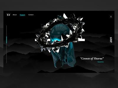Crùn Dhrain physicalrender cloth webdesign mograph rendering render 3d art cinema4d minimal ui typography design